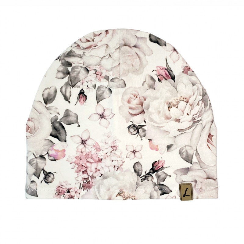 Czapka White Roses Pojedyncza