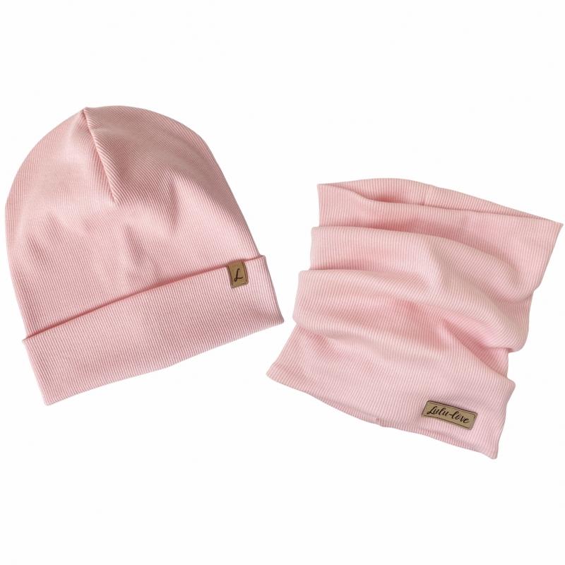 Baby Pink Prążek Komplet...