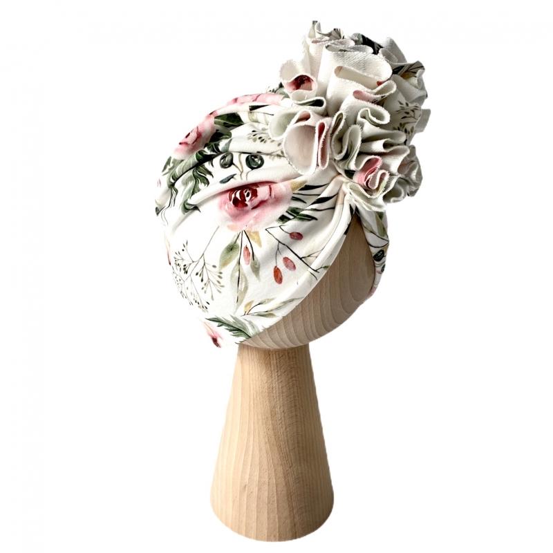 Turban Rosie Cream Podwójny