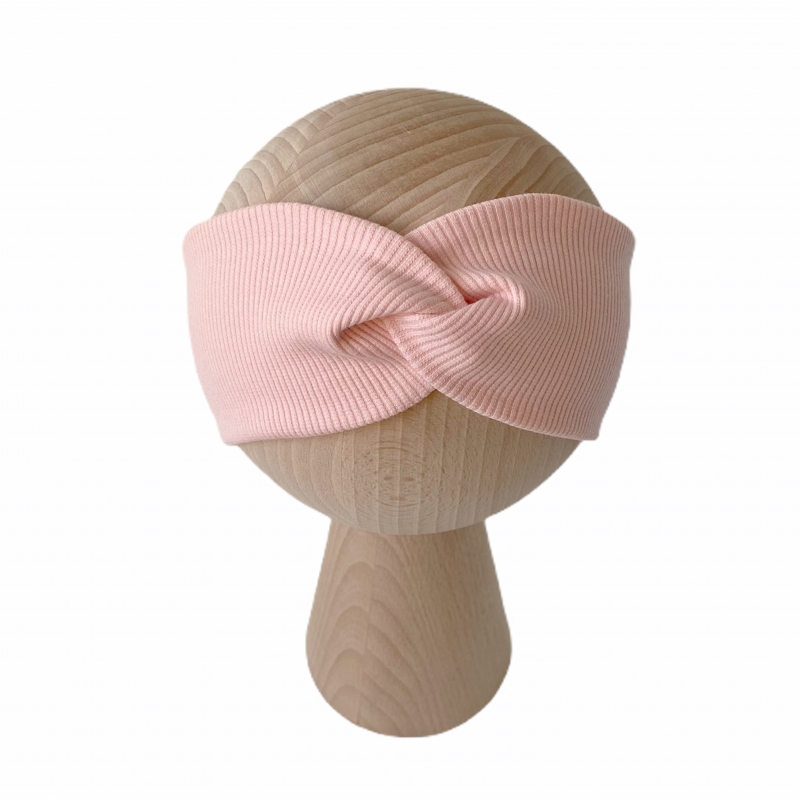 Opaska Przeplatana Baby Pink