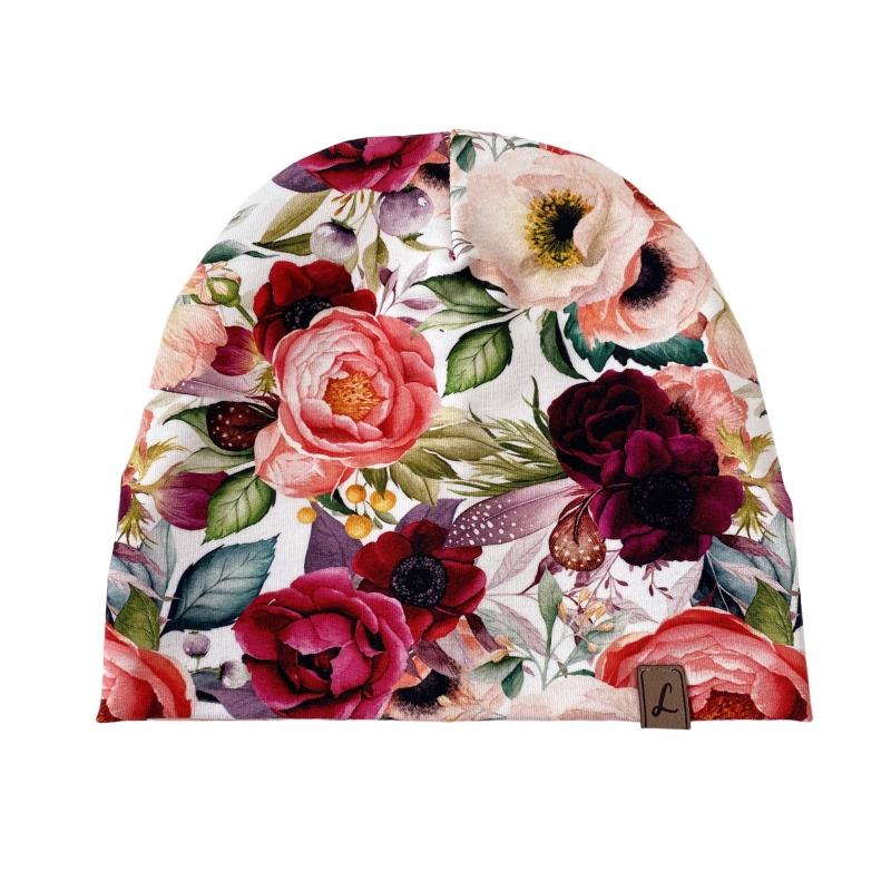 Czapka Rajskie Kwiaty